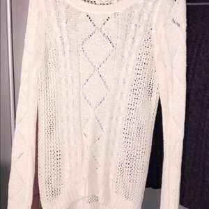 Two knit long sleeve tops